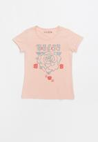 GUESS - Short sleeve Guess tie tee - multi