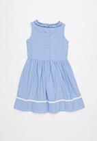 POLO - Emily floral party dress - blue
