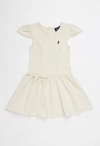 POLO - Hailey frilled sleeve dress - neutral