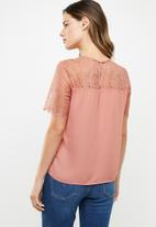 ONLY - Fiona lace top - pink