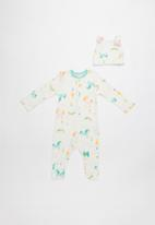 Baby Corner - Unicorn patterned sleepsuit & cap set - multi