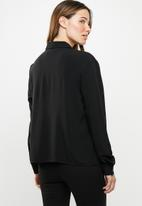 Jacqueline de Yong - Annie embroidery shirt - black