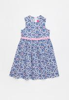 POP CANDY - Fit and flare geometric flower dress - blue