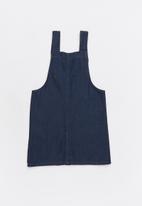 Twin Clothing - Short sleeve button through denim dress - blue