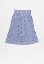 POP CANDY - 3/4 Culotte - blue & white