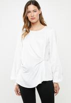 Vero Moda - Faithy long sleeve midi top - white