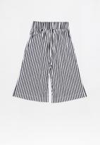 POP CANDY - 3/4 Culotte - navy & white