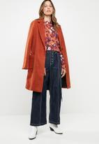 Vero Moda - Karen long sleeve high neck top - multi