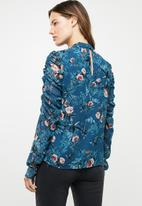 Vero Moda - Karen long sleeve high neck top - multi