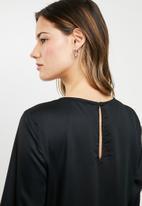 Vero Moda - Faithy long sleeve midi top - black