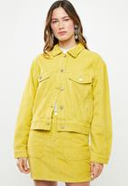Missguided - Cord trucker jacket - yellow