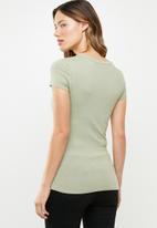 GUESS - Short sleeve fall off T-shirt - green
