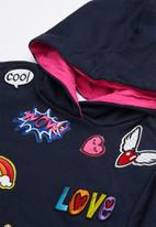 See-Saw - Hoodie with badges - navy