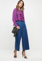 ONLY - Alicante pleat flounce blouse - purple