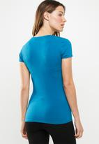 GUESS - Short sleeve g tri T-shirt - blue