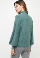 Noisy May - Sophie long sleeve high neck knit - green