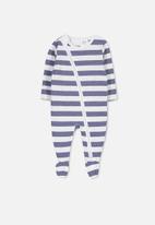 Cotton On - Mini zip through - blue & white