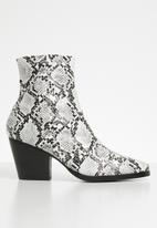 Public Desire - Faux leather ankle boot - mono snake pu