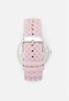 Kapten & Son - Campus silver watch - pink