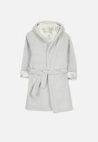 Cotton On - Alex hooded gown - grey
