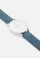 Kapten & Son - Chrono leather watch - blue