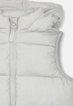 Cotton On - Billie puffer vest - grey