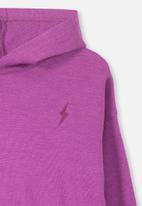 Cotton On - Scarlett lightning bolt hoodie - purple