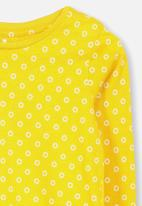 Cotton On - Penelope long sleeve tee - yellow & white