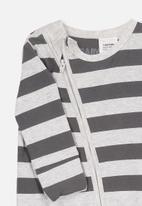 Cotton On - Mini zip through - grey & charcoal