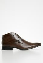 Gino Paoli - James formal lace-up boots - brown