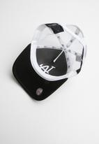 New Era - Trucker clean los angeles dodgers - black and white