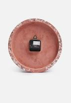 Present Time - Tom wall clock - terazzo pink