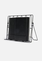 Present Time - Diamond cut menu stand - iron matte black