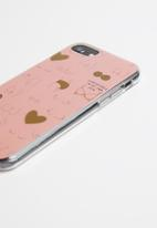Typo - Printed phone cover universal 6,7,8 - pink & gold