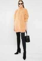 Missguided - High neck sweat dress - neutral