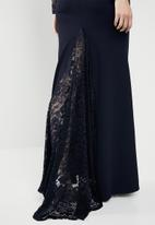 Missguided - Backless lace detail fishtail  - navy