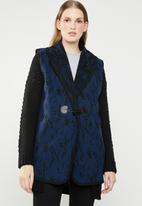 Revenge - Longline waistcoat - blue
