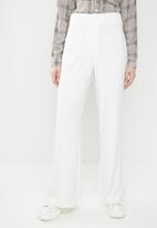 Missguided - Wide leg smart trouser - ivory