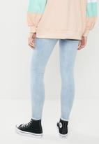 Missguided - Sinner authentic high waisted distressed skinny- blue