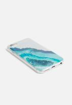 Typo - Transparent iPhone cover 6,7, - blue & green