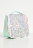 Typo - Hanging cosmetic bag - silver