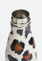 Typo - Metal drink leopard bottle - multi