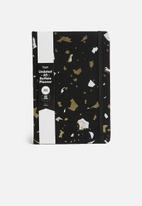 Typo - A5 fabric undated daily dairy - multi