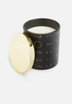 Typo - Premium candle - black & gold