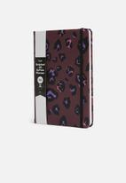 Typo - A5 fabric undated weekly dairy - purple