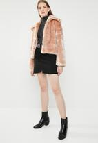 STYLE REPUBLIC - Faux fur jacket - pink