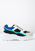 Cotton On - Textile chunky flatform sneaker - multi