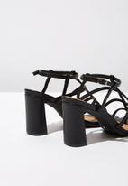 Cotton On - Farrah strappy toe post heel - black