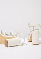 Cotton On - Farrah strappy toe post heel - white