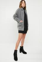 Missguided - Oversized roll neck sweater dress - black
